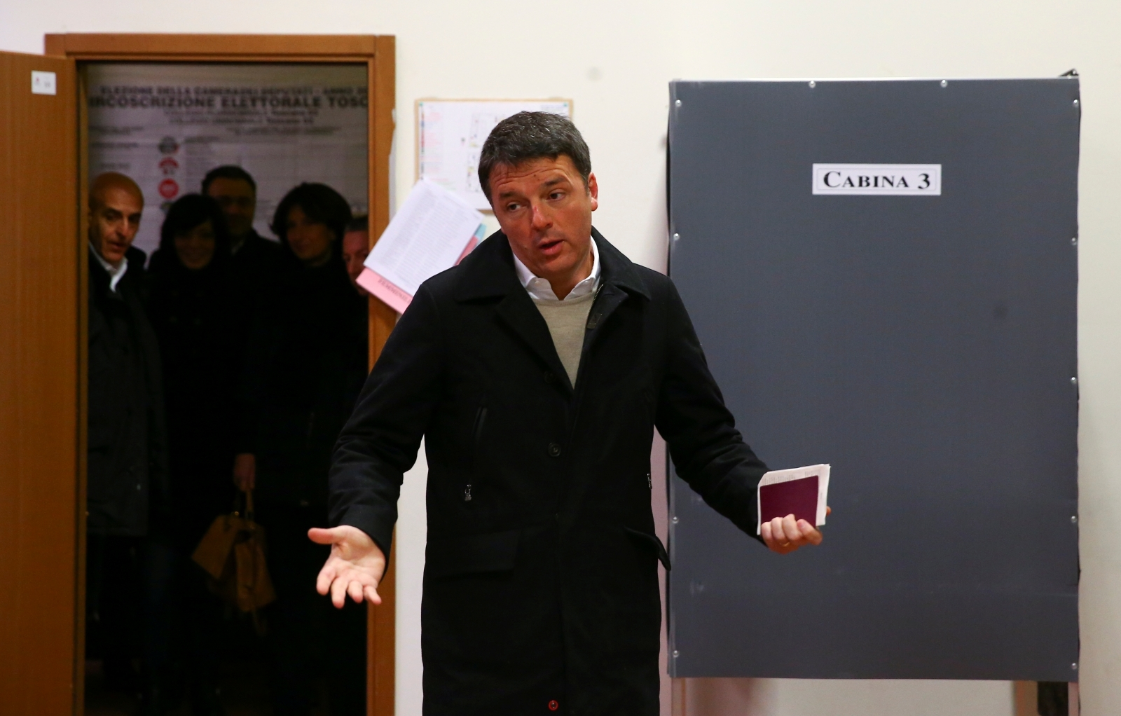 Former Italian prime minister Matteo Renzi will stand down as leader of his centre-left Democratic Party today