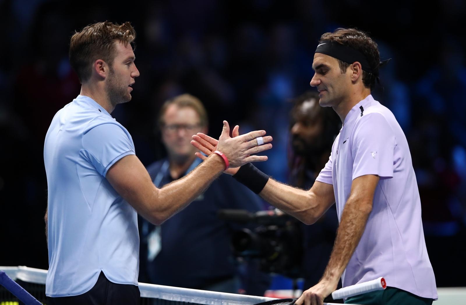 Jack Sock and Roger Federer