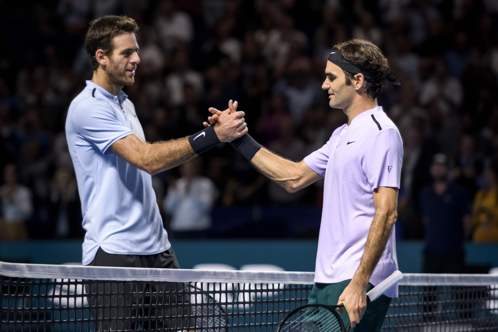 Juan Martin del Potro and Roger Federer