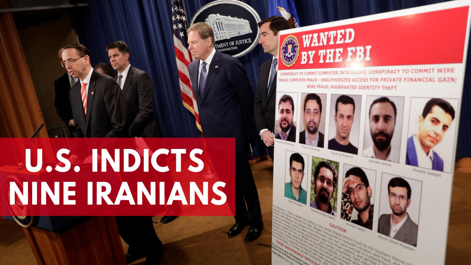 U.S. Indicts Nine Iranians In Hacking Investigation