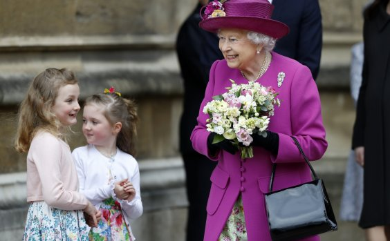 Queen Elizabeth And Royal Family Attends Easter Service At Windsor