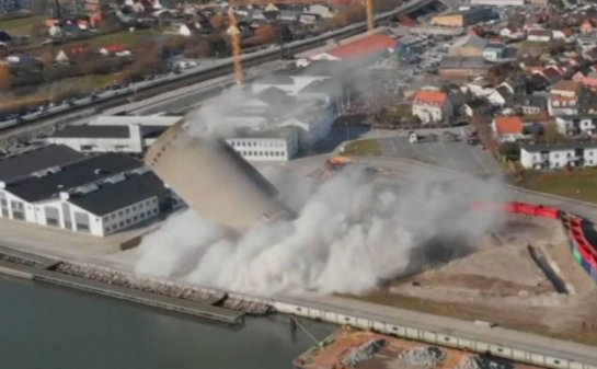 Danish Silo Demolition Goes Wrong, Crushing Library And Music School