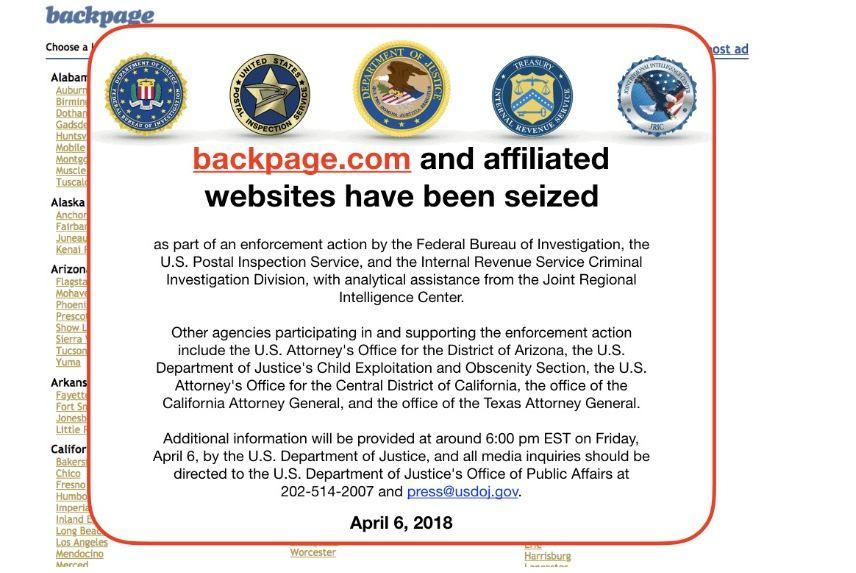 Backpage.com website
