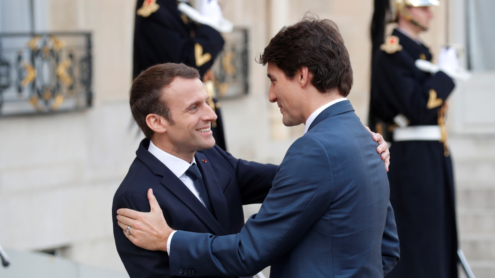 Justin Trudeau and Emmanuel Macron's bromance continues in Paris
