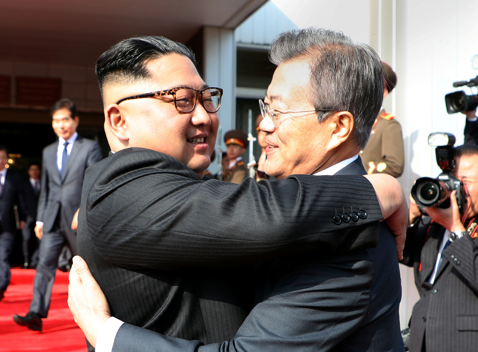 President Moon Jae-in and Kim Jong Un