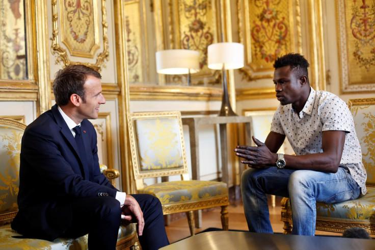 President Emmanuel Macron meets Mamoudou Gassama