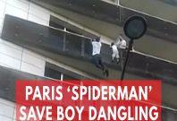 'Spiderman' saves dangling child
