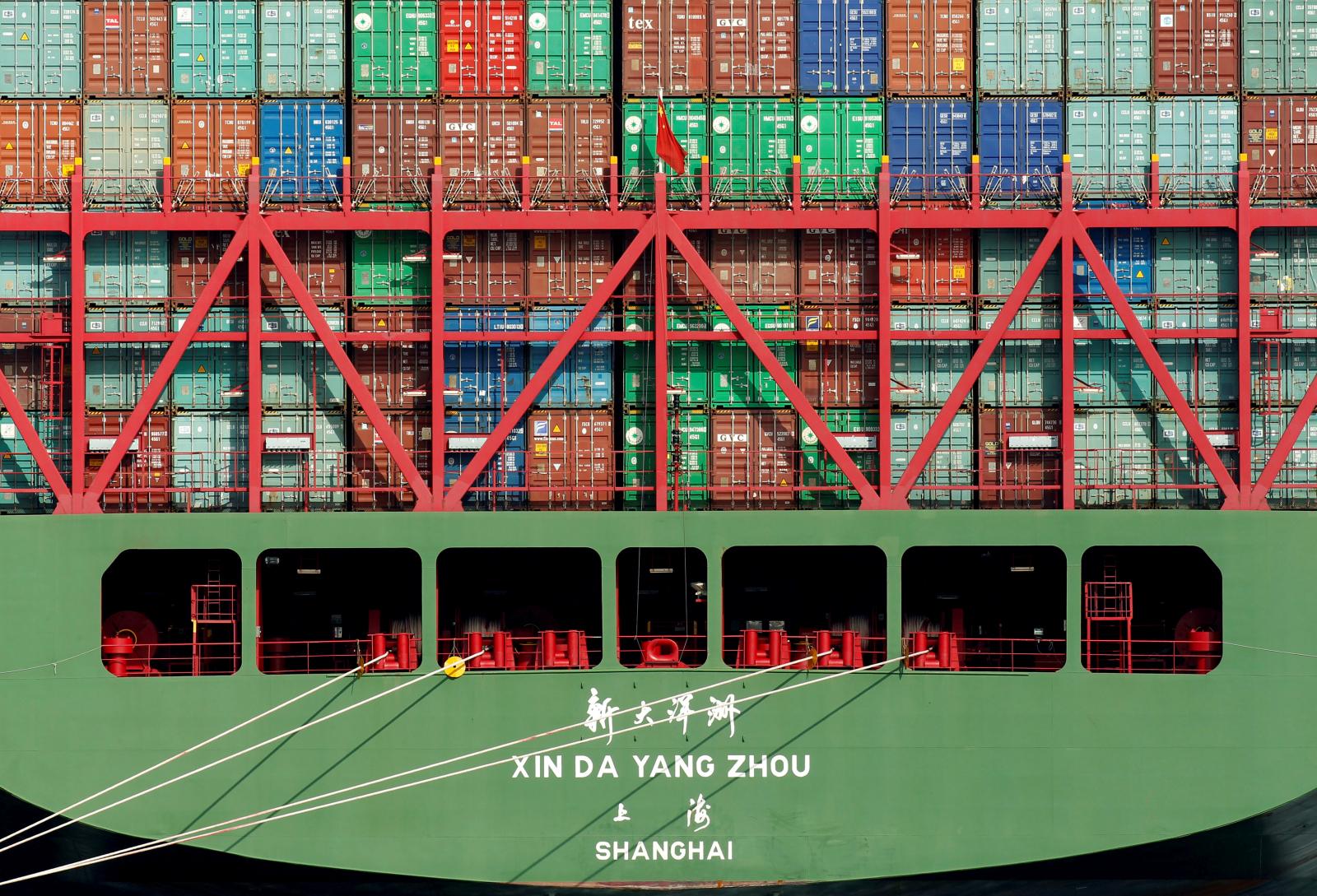 China ship at Port of Los Angeles