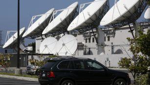 Large satellite dishes
