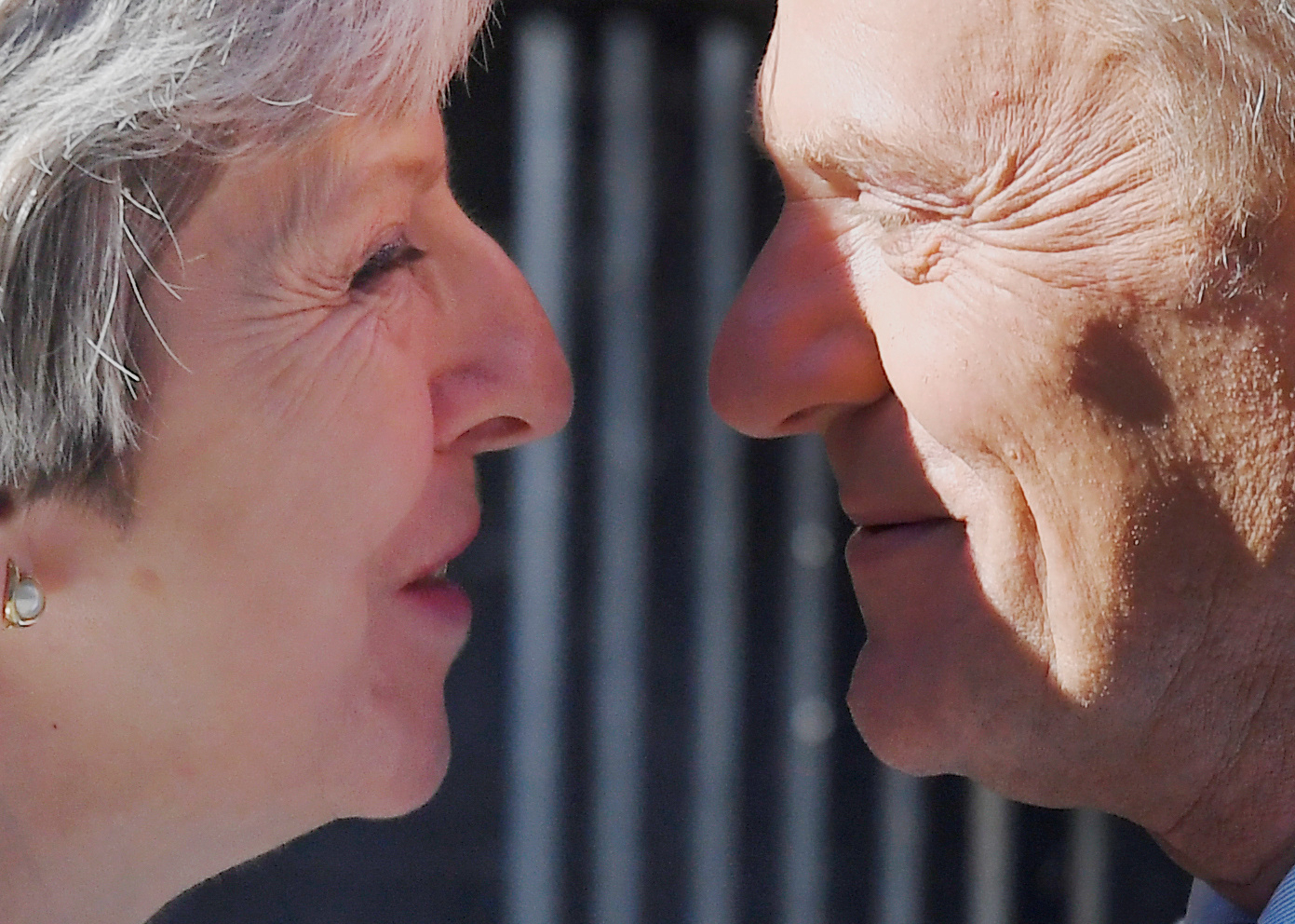 Theresa May welcomes Donald Tusk