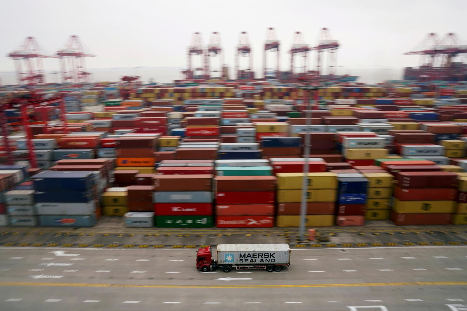 Port in Shanghai