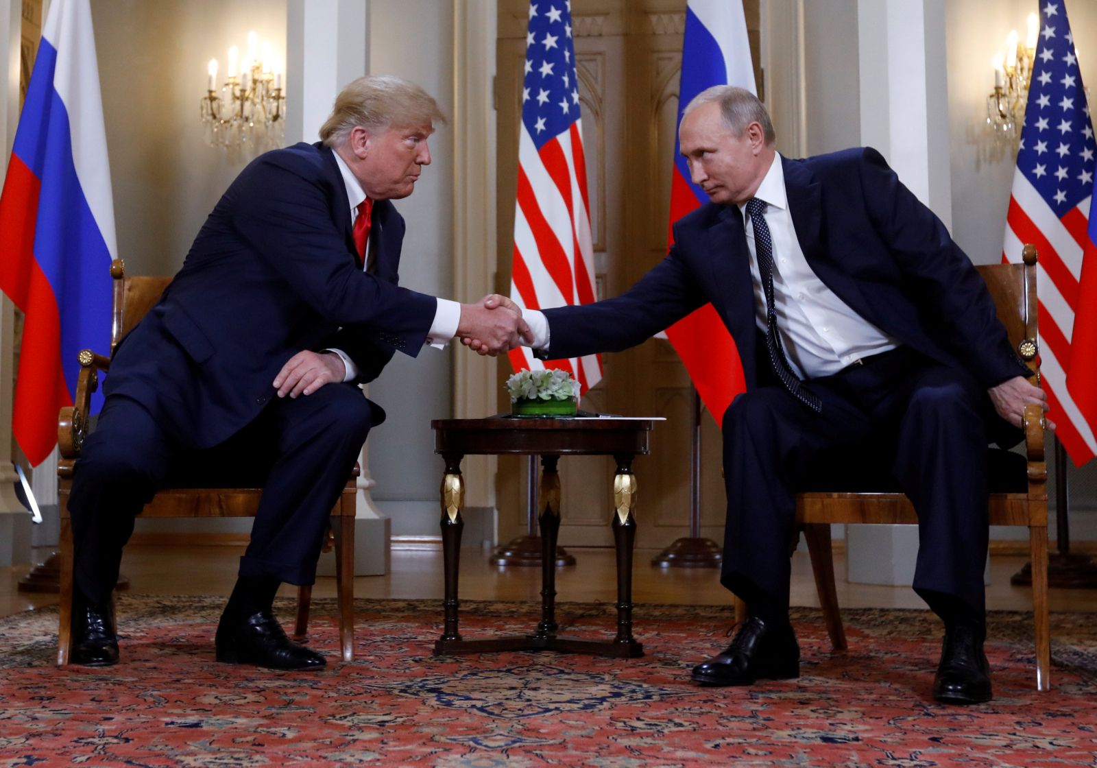 Trump meets Putin at Helsinki
