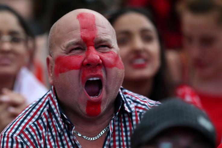 England fans watch Croatia v England