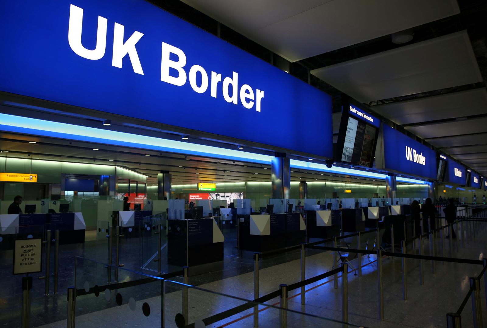 UK border control Heathrow Airport