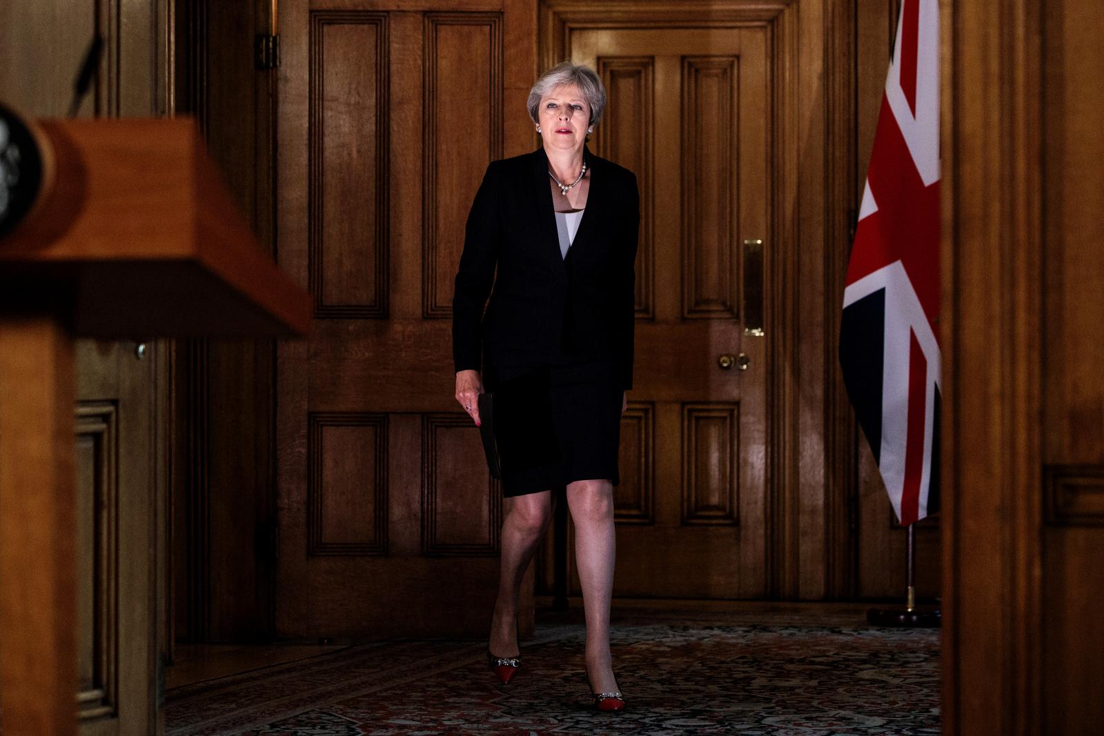 Theresa May 10 Downing Street