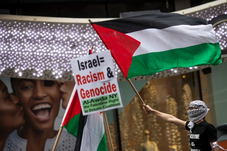 Palestinan protesters New York