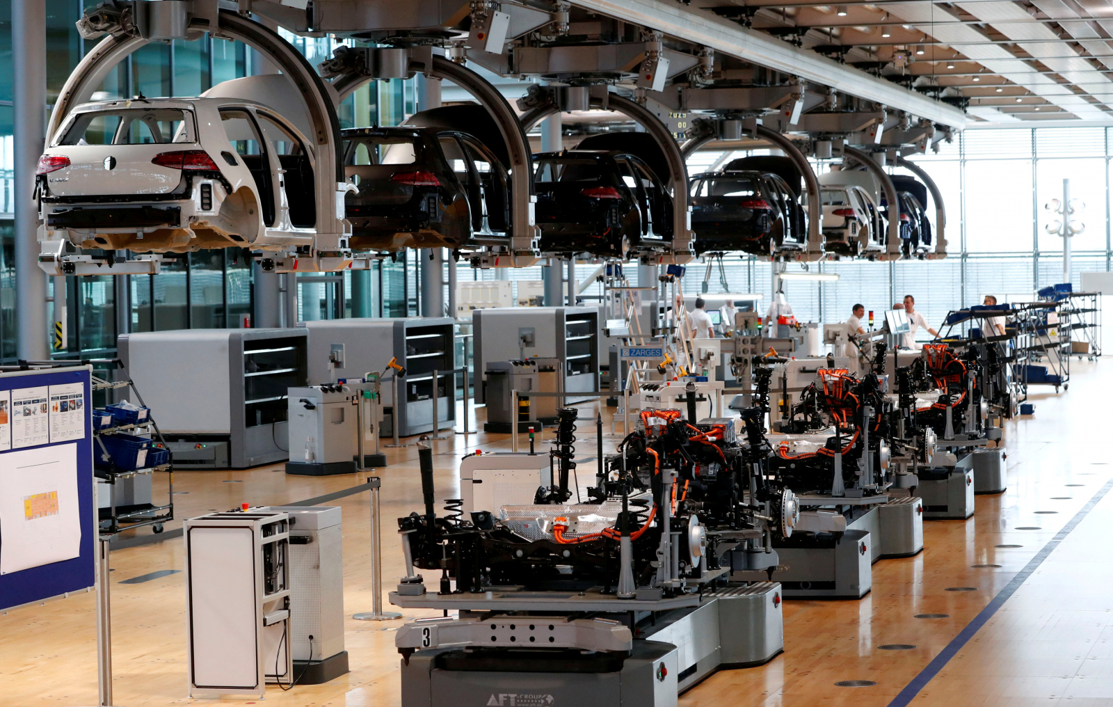 Volkswagen car factory