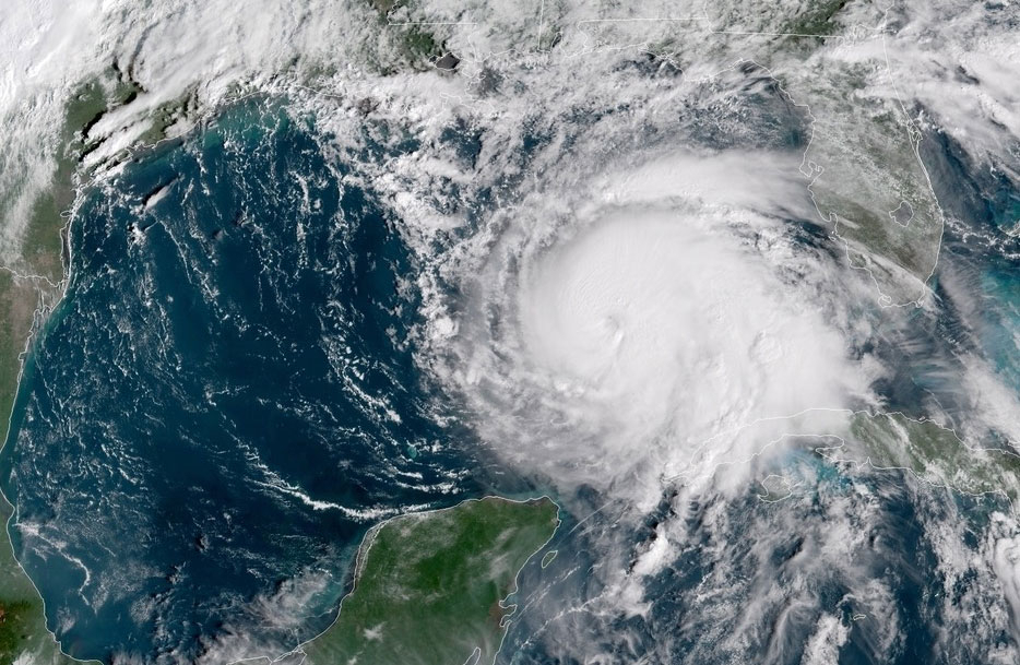 Satellite image Hurricane Michael Florida