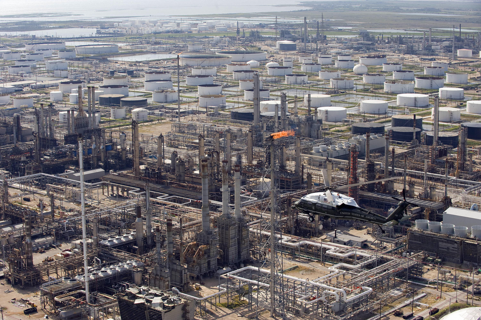 Oil refinery in Texas City, Texas