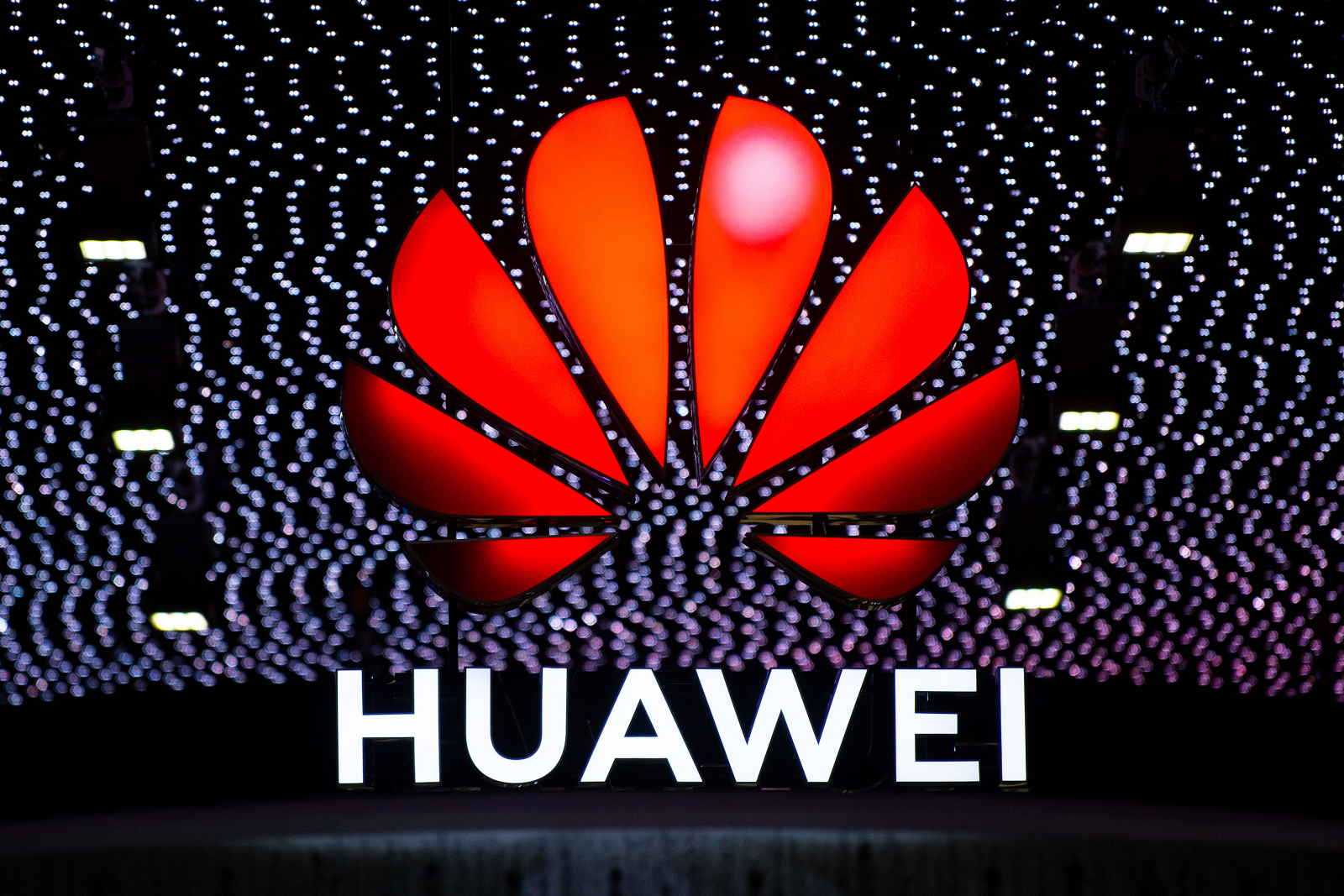 Huawei Logo At Mobile World Congress