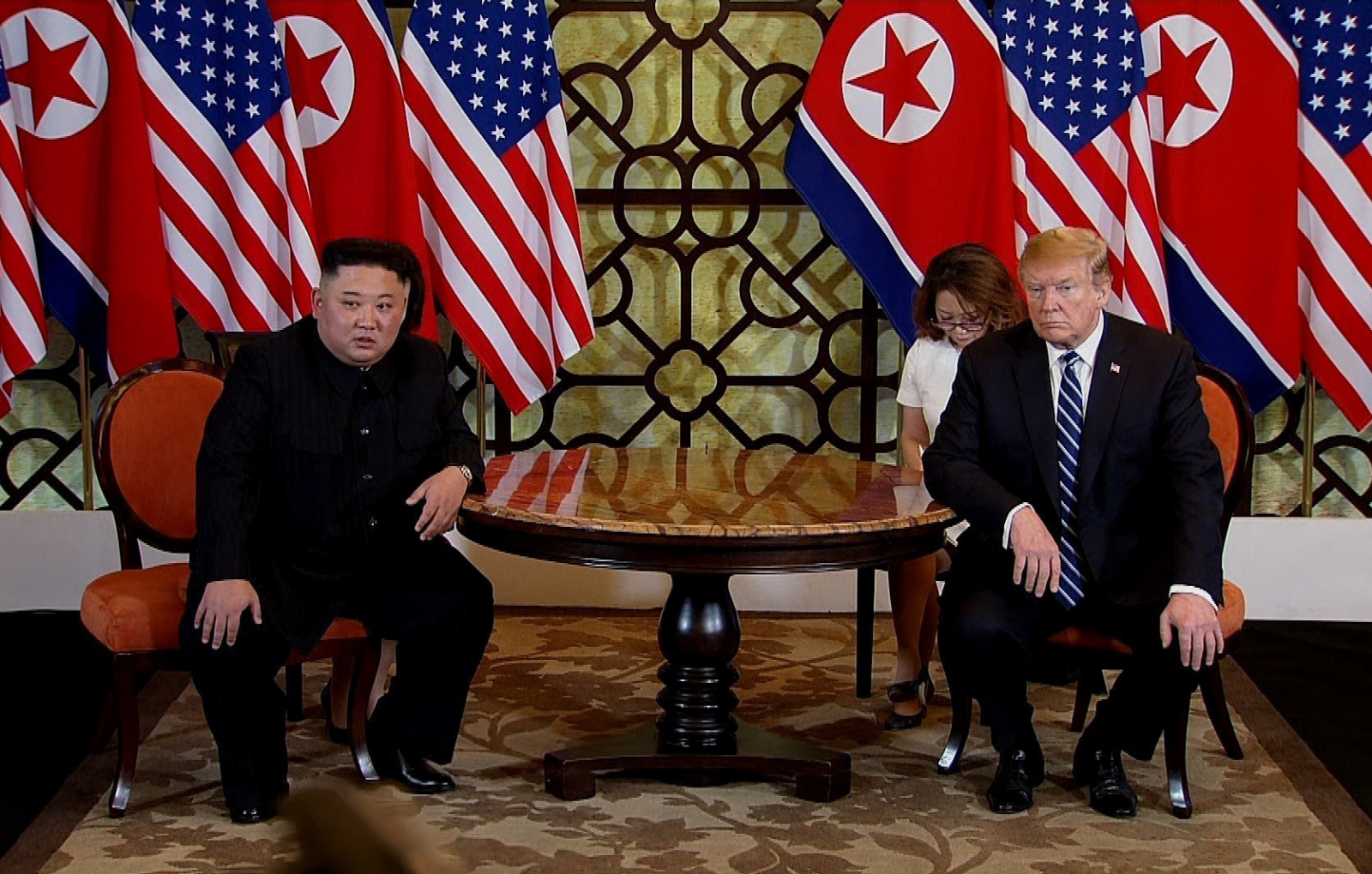 Trump and Kim at the Hanoi Summit