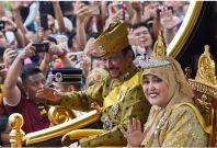 Brunei's Sultan Hassanal Bolkiah and Queen Saleha
