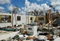 Destroyed home in the Bahamas