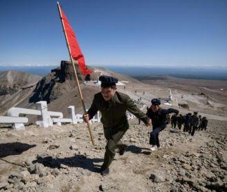 Mount Paektu in North Korea