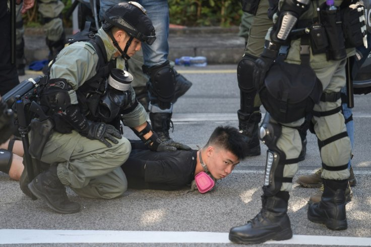 Hong Kong Protests: Teens arrested and senior citizen pepper sprayed by police