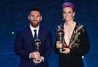 Lionel Messi and Megan Rapinoe