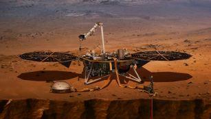 NASA lander on Mars