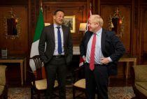 Ireland's Leo Varadkar and Britain's Boris Johnson