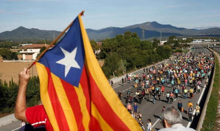 Barcelona freedom march