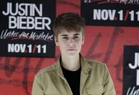 "Canadian pop singer Justin Bieber poses during a photocall at the Foro Sol before his ""My World Tour"" concert in Mexico City"