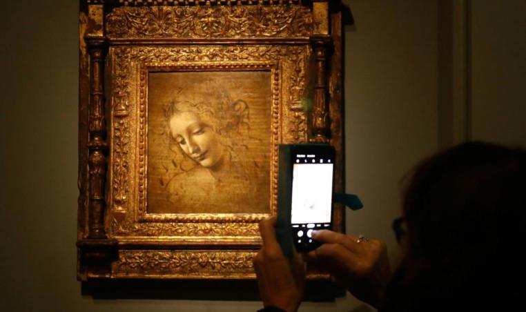 """The Head of a Woman"" Leonardo DaVinci"