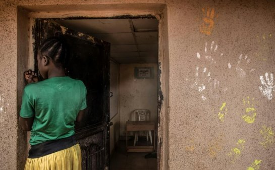 12-year-old girl who fled the Boko Haram