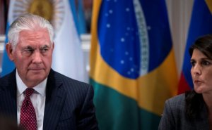 Then-US Secretary of State Rex Tillerson