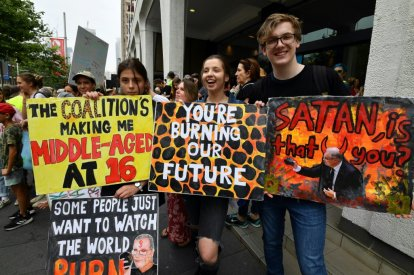 Climate protests in Australia