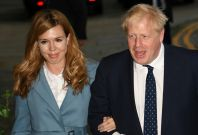 Boris Johnson and Carrie Symonds visit temple