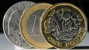 The pound against dollar  and euro