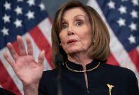 Nancy Pelosi and Mitch McConnell spar