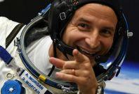 US astronaut Andrew Morgan spotted Santa