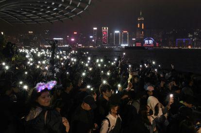 Hong Kong NY democracy rally