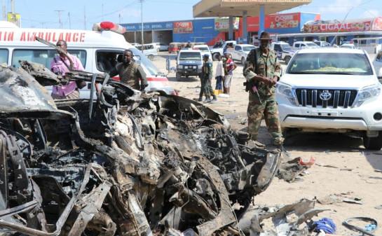 a car-bomb in Mogadishu