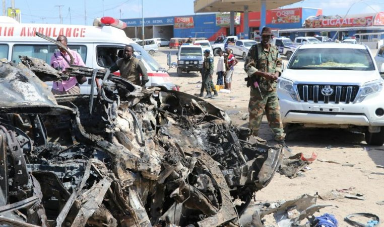 a car-bomb in Mogadishu