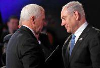 Mike Pence and Benjamin Netanyahu