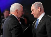 Mike Pence and Benjamin Netanyahu