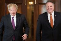 Boris Johnson and Mike Pompeo