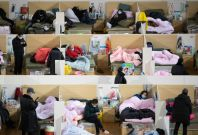 Makeshift hospitals at Hubei