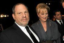 Harvey Weinstein pictured with actress Meryl Streep